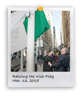 Raising the Irish Flag (3/13/2015)