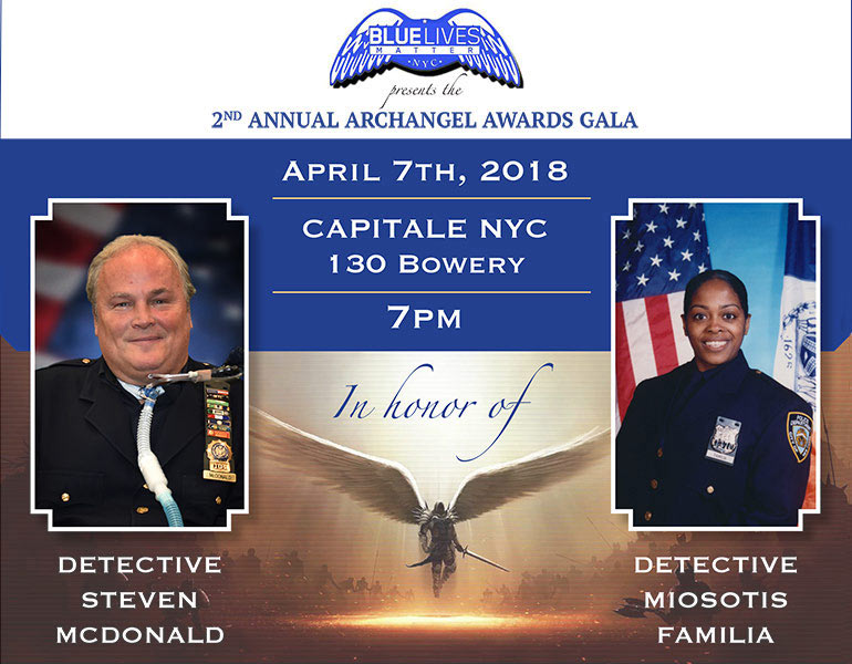 blue Lives Matter 2nd Annual Archangel Awards Gala