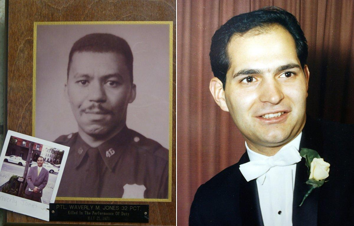 Waverly Jones (left) and Joesph Piagentini were both killed in 1971. (NEW YORK DAILY NEWS / AP)