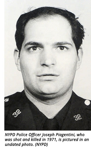 NYPD Police Officer Joseph Piagentini, who was shot and killed in 1971, is pictured in an undated photo. (NYPD)