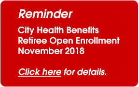 Active open enrollment is over; Retiree enrollment is about to begin
