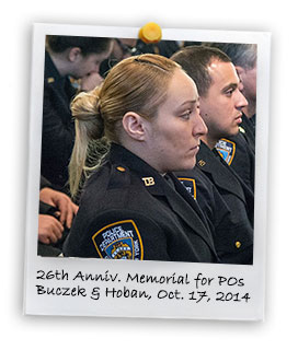 26th Anniversary Memorial in Memory of PO Buczek and PO Hoban (10/17/2014)