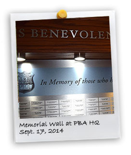 Memorial Wall at PBA HQ (9/17/2014)