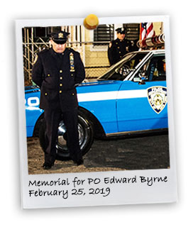 Memorial for Slain Police Officer Edward Byrne in the 103 Pct. (2/25/2019)