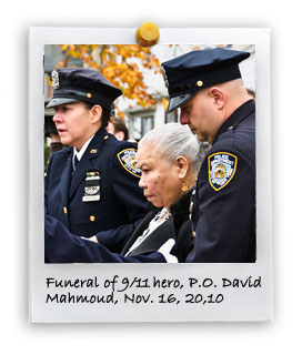 Funeral of 9/11 hero, P.O. David Mahmoud (11/16/2010)