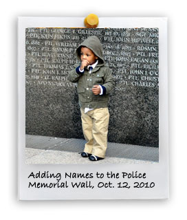 Adding Names to the Police Memorial Wall (10/12/2010)