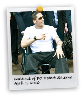 Walkout of PO Robert Salerno (4/5/2010)