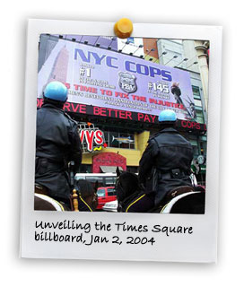 Unveiling the Times Square Billboard (1/2/2004)