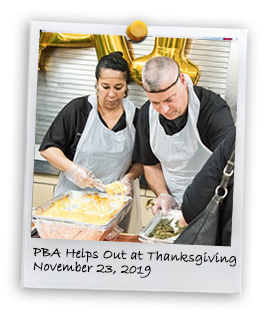 PBA Supports Thanksgiving Dinners (11/23/2019)