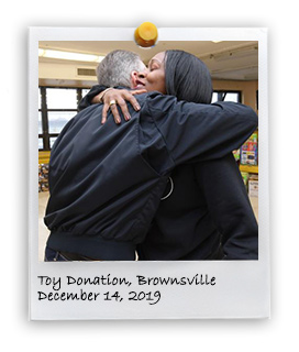 Annual Toys Donation in Brownsville (12/14/2019)