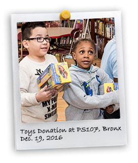 2016 Toys Donation in the Bronx