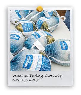 Veteran's Turkey Giveaway