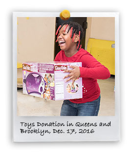 Toys Donation in Brooklyn and Queens, 2016